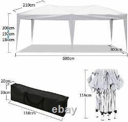 3x6m Pop-up Waterproof Gazebo Avec La Tente De La Tente De La Tente Marquée Patio De Canopy De Poids Lourds