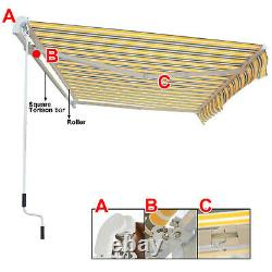4 X 3m Manuel Auvent Patio Canopy Garden Shelter Sun Shade Aluminium Greenbay
