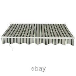 4mx3m Manuel Auvent Canopy Garden Patio Sun Shade Shelter Aluminium Rétractable