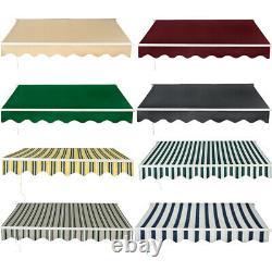 4x3m Auvent Rétractable Manuel Jardin Extérieur Canopy Patio Sun Shade Shelter