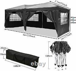 6mx3m High Duty Gazebo Pop Up Waterproof Marquee Garden Party Patio Tente Canopy