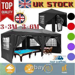 6x3m/3x3m Gazebo Canopy Résistant À L'eau Jardin Patio Party Market Tente Nouveau