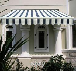 Abri Manuel D'ombre De Patio De Jardin D'auvent D'auvent Aluminium Rétractable Greenbay
