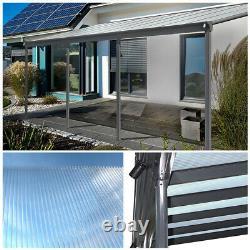 Accueil Deluxe X Pergola Canopy Patio Roof Patio Aluminium