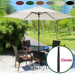 Aluminium 3m Grand Jardin Rond Parasol Canopy Patio Soleil Parapente Parapluie Parapluie