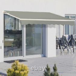 Auvent Auvent De Patio Canopy Retractable Porch Rain Cover Outdoor Sunshade Garden