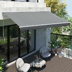 Auvent De Casette Patio Électrique Motorisé Rétractable Fenêtre Canopy Sun Shade Grey
