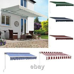 Auvent De Patio Retractable Manuel Jardin Sun Shade Canopy Shelter Outdoor Cafe Nouveau
