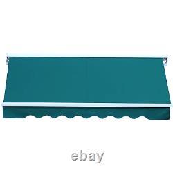 Auvent Électrique Rétractable 2,5x2m Green Canopy Waterproof Patio Cassette Shade