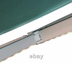 Auvent Électrique Rétractable 3,5x2,5m Green Canopy Waterproof Patio Sun Shelter