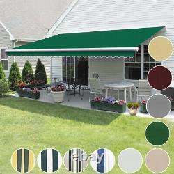 Auvent Manuel Canopy Garden Outdoor Diy Patio Sun Shade Retractable Shelter Top
