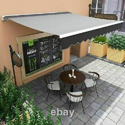 Auvent Manuel Canopy Garden Patio Shade Shelter Aluminium Retractable Sun Shade