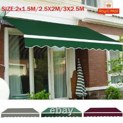 Auvent Manuel Canopy Outdoor Patio Garden Sun Shade Retractable Shelter Uk Stock