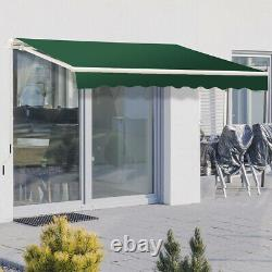 Auvent Manuel Patio Jardin Canopy Sun Shade Abri Rétractable Oxford Fabric Uk