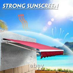 Auvent Manuel Patiodiy Auvent Extérieur Patio Garden Sun Shade Refuge Rétractable