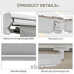 Auvent Rétractable Électrique 3.5x2.5m Grey Canopy Waterproof Patio Sun Shade