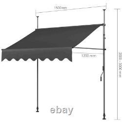 Balcon Auvent Manuel Patio De Bricolage Réglable Auvent Canopy Retractable Shade