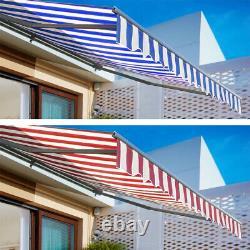 Cafe Shop Retractable Manual Auvent Canopy Outdoor Patio Garden Sun Shadeshelter