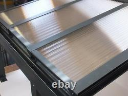 Canopée D'aluminium, Abri D'auto, Couverture De Patio 1.5m 3m Projection, Anthracite Grey