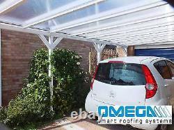 Canopée En Aluminium, Abri D'auto, Couverture De Patio Avec Des Attelles De Genou, Projection De 3.5m 4m