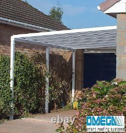 Canopée En Aluminium, Couverture De Patio, Carport, Lean To, Abri Fumant 7ft X 5ft