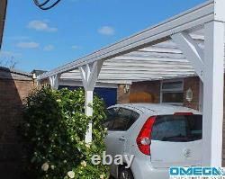 Canopée En Aluminium, Couverture Patio, Abri D'auto, Couverture Caravan 6,3m De Large X Projection De 3m