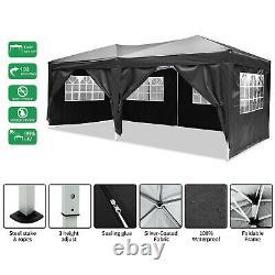Cobizi 3x6m Gazebo Black Party Shelter Tent, Patio Shade Outdoor Sun Canopy Nouveau