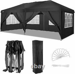Cobizi 3x6m Gazebo Marquee Canopy 100% Waterproof Garden Patio Party Tent Noir