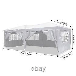 Cobizi 3x6m Gazebo Marquee Canopy, Mise À Niveau De La Tente De Patio Party Étanche