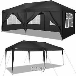 Cobizi Gazebo Marquee Party Tente Avec 6sides Waterproof Garden Patio Canopy 3x3m