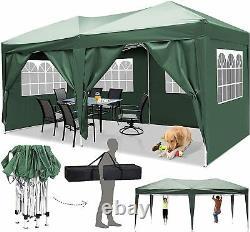 Cobizi Jardin Imperméable Popup Gazebo 3x6m Patio Extérieur Canopy Party Tent Green