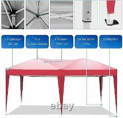 Cobizi Jardin Imperméable Popup Gazebo 3x6m Patio Extérieur Canopy Party Tente Red