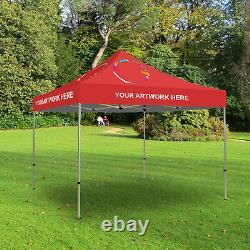 Custom Ez Pop Up Canopy Tent, 6'x6' Outdoor Patio Party Shelter Gazebo+carry Bag