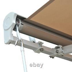 Électrique Patio Auvent Extérieur Retractable Fenêtre Canopy Avec Télécommande Beige