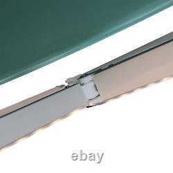 Énorme Auvent Électrique Rétractable 3,5x2,5m Green Canopy Motorized Patio Cassette