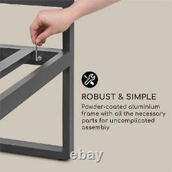 Ensemble De Salon Jardin Patio 4 Pièces Convertible Poly Rattan Aluminium Coussin Table
