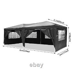 Gazebo 3x6m Heavy Duty Pop Up Marquee Waterproof Garden Party Patio Tente Canopy