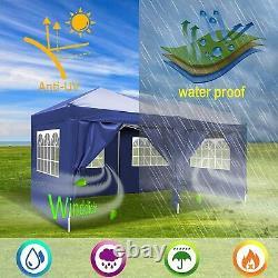 Gazebo 3x6m Waterproof Pop Up Tente Marquee Canopy Patio Mariage Jardin Fête Nouveau