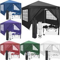 Gazebo High Duty Pop Up Marquee Market Party Garden Canopy Patio Tente 3x3m/3×6m