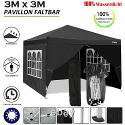 Gazebo Marquee Forte Étanche Jardin Patio Party Tente 3x3m Canopy