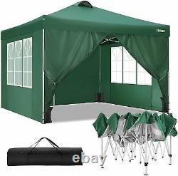 Gazebo Marquee Party Patio Tente Avec Côtés Waterproof Garden Outdoor Canopy 3x3m