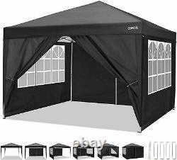 Gazebo Marquee Tente De Fête Avec 4sides Waterproof Garden Patio Outdoor Canopy 3x3m
