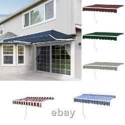 Grand Abri D'auvent De Patio Canopy Retractable Rain Cover Outdoor Sunshade Garden