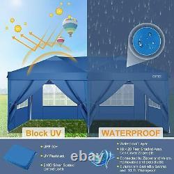 Gros Travaux Gazebo Pop-up Waterproof Marquee Canopy Garden Patio Party Tent 3x6m