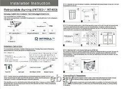 Int300 Robuste 2.5/3/3.5/4/4.5/5m Intelroll Patio Auvents Rétractables