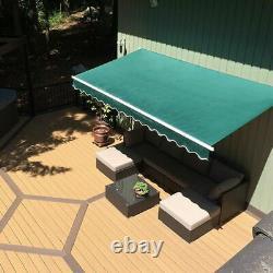 Jardin Extérieur Patio Auvent Canopy Manuel Refuge Rétractable Sun Shade Haut Royaume-uni