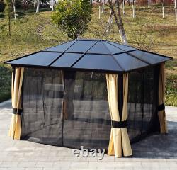 Jardin Gazebo Canopy Led Solar Light Large Metal Structure Hot Tub Patio Shelter