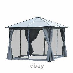 Jardin Gazebo Patio Meubles Abri Sun Shade Canopy Roof With Curtains Net Grey