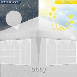 Jardin Gazebo White Party Shelter Tente Patio Shade Outdoor Pop Up Canopy 3x6m Uk