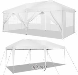 Jardin Gazebo White Party Shelter Tente Patio Shade Outdoor Sun Canopy 3x6m Blanc